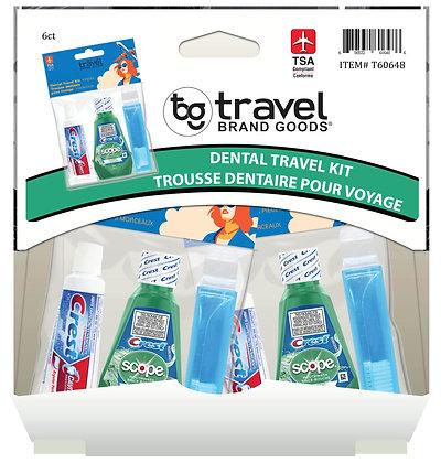 Travel Brand Goods 3pc Dental Travel Kit, 6ct Gravity Pack