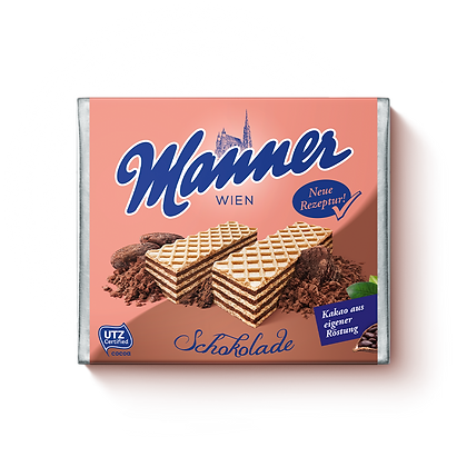 MANNER CHOCOLATE CREAM FILLED WAFERS 12X75 GR
