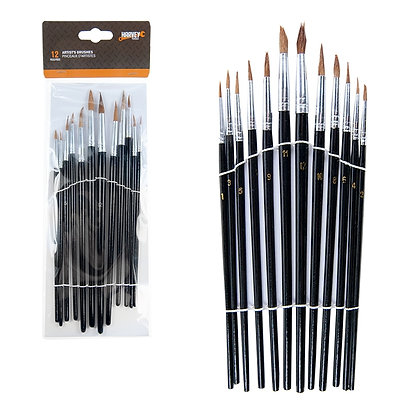 HARVEY TOOLS - 12PC ARTIST'S BRUSH SET 1-12#