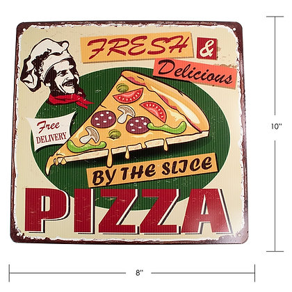 "TIMBER - TIN SIGN, ""BY THE SLICE"""
