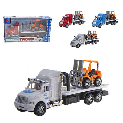 IPLAY - PULL BACK TOW TRUCK, WITH FORKLIFT
