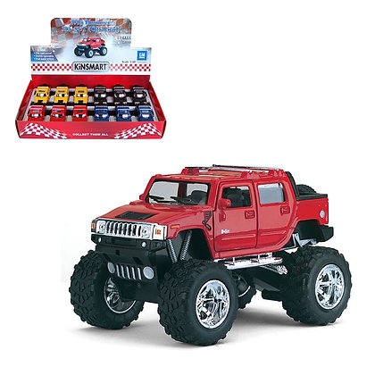 KINSMART - 1:40, 2005 HUMMER H2 SUT OFF ROAD, 12 PCS DISPLAY
