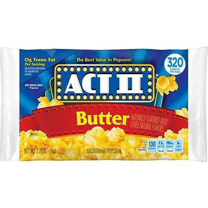 ACT II BUTTER POPCORN 14X78 GR