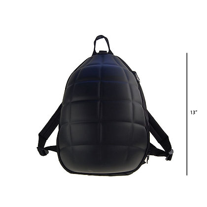 OLYMPIA - SMALL GRENADE SHAPED BACKPACK, BLACK