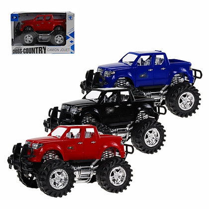 1/2 WHEELS - BIG WHEELS TRUCK, SMALL, IN 3 COLORS - RED, BLA