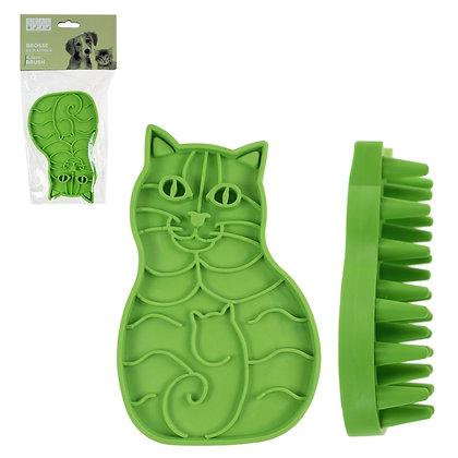 PLASTIC BRUSH, SHAPE OF CAT