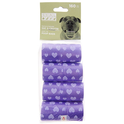 REFILL WASTE BAGS, PURPLE HEARTS