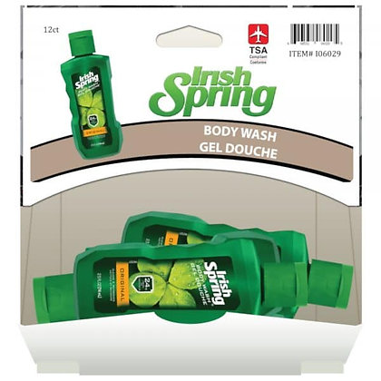 Irish Spring Original Bodywash 74mL, 12ct Gravity Pack