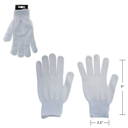 HARVEY TOOLS - COTTON KNIT GLOVE WITH PVC GRIP, WHITE, 12 PA