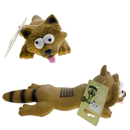LATEX RACOON, SQUEAKY TOY