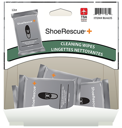 Rescue Wipes Travel Size Shoe Cleaning Wipes 5pk, 12ct Gravity Pack