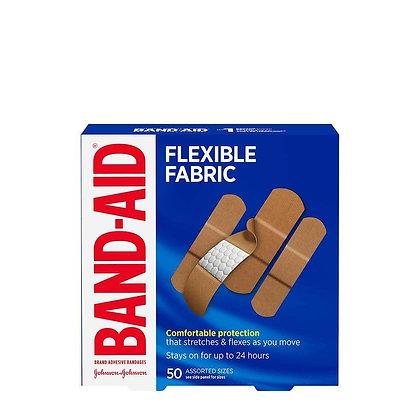 Band-Aid Flexible Fabric Assorted Sizes Brand Adhesive Bandages 50ct