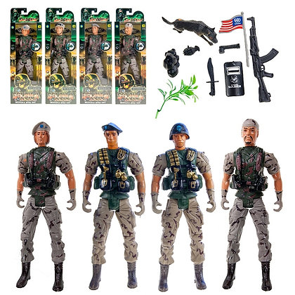 TOY SOLDIERS, ASST CHARACTERS, BATTERY INCLUDED