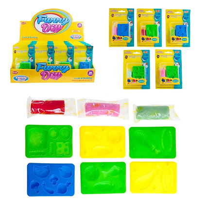 IPLAY - TOY DOUGH WITH TOOL, ASST COLOURS, 36PCS DISPLAY
