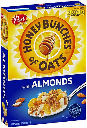 Honey Bunches Of Oats With Almonds Cereal 411g