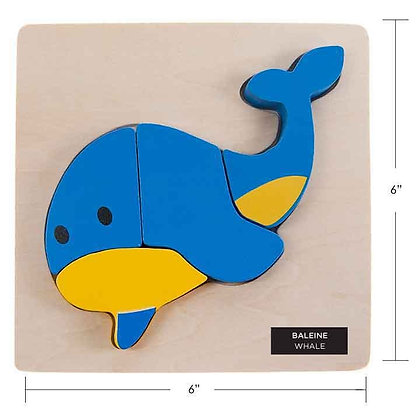 IPLAY - WOODEN PUZZLE, WHALE