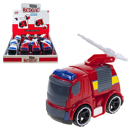 RESCUE TRUCK SET, 12 UNIT DISPLAY, 4 STYLES