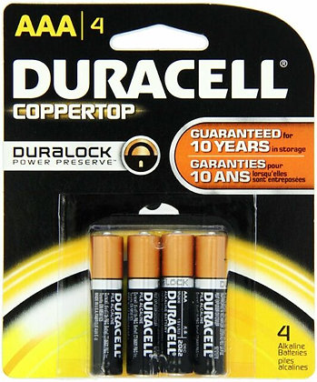 DURACELL - BATTERIES - AAA-4PK - MADE IN USA