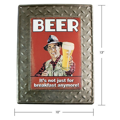 "TIMBER - TIN SIGN, ""BEER"""