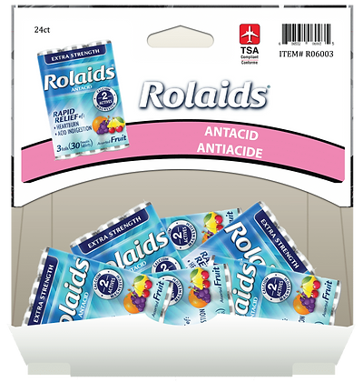 Rolaids Roll XST Chew Fruit 3x10ea, 24ct Gravity Pack