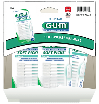 GUM Soft Picks Original 10ct, 12ct Gravity Pack
