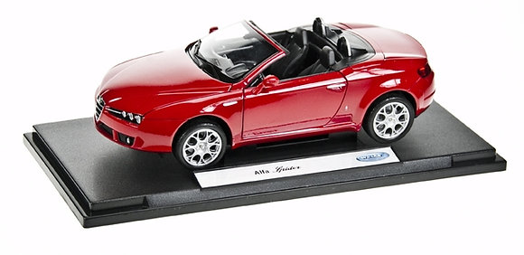 WELLY - 1:18, ALFA SPIDER CONVERTIBLE, RED