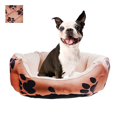 DOG BED, PRINTED PAWS