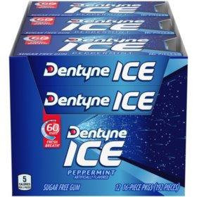 DENTYNE ICE OTC PEPPERMINT 12 PK