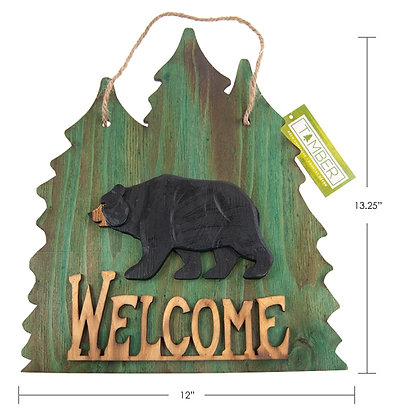 TIMBER - WELCOME SIGN, BEAR