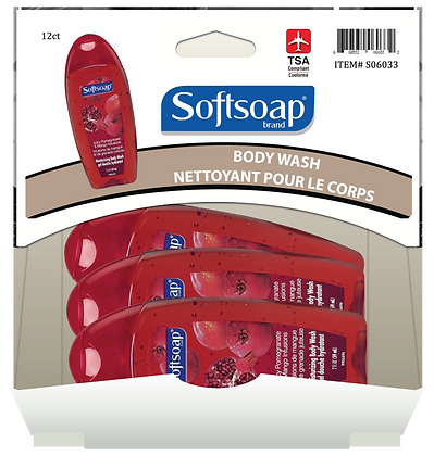 Softsoap Pomegranate Body Wash 59mL, 12ct Gravity Pack