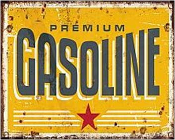 "TIMBER - TIN SIGN ""GASOLINE"""