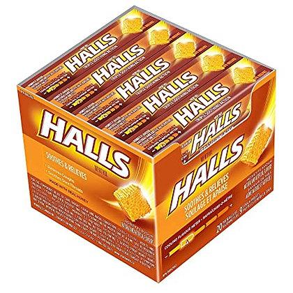 HALLS DROPS 9PACK X 20 REAL HONEY