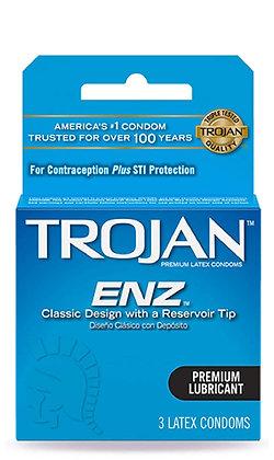 Trojan Classic Premium Lubricant Latex Condoms 3ct