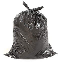 GARBAGE BAGS 26X36 BLACK STRONG 200/CS FORT ECOLOGO