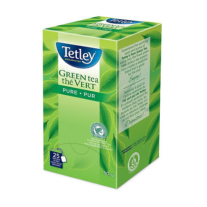 TETLEY TEA ENV PURE GREEN 25 CT