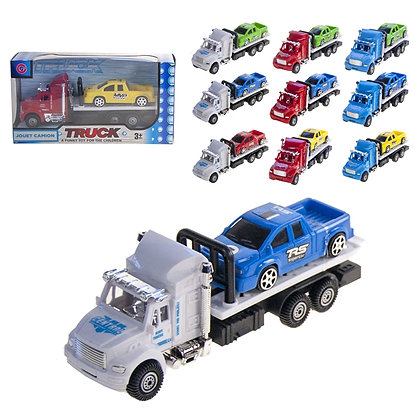 IPLAY - PULL BACK TOW TRUCK, WITH CAR
