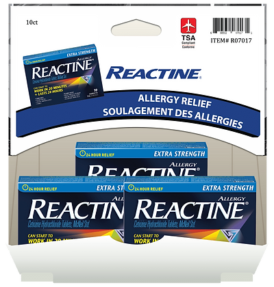 Reactine Allergy Relief 3x10mg, 10ct Gravity Pack