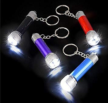 Flashlight Keychain Jar of 24