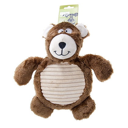 PET PLUSH BROWN BEAR WITH BIG SQUEAKER