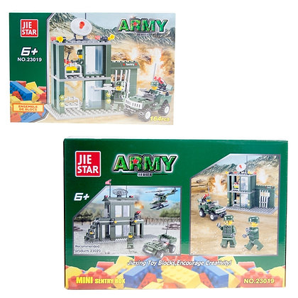 IPLAY - TOY BUILDING BRICKS, ARMY SENTRY STATION