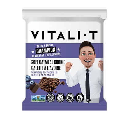 VITALI T COOKIE BLUEBERRY&CHOCOLATE 24X85 GR
