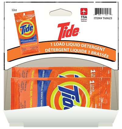 Tide 1 load Liquid Detergent 48mL, 12ct Gravity Pack