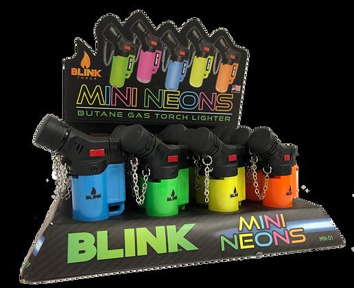 Mini Neons Torch Lighters w/Display