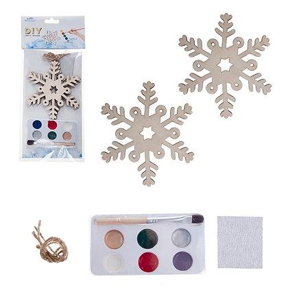 OLYMPIA CUBS - DIY CHRISTMAS SNOWFLAKE ORNAMENT, 2PCS SET