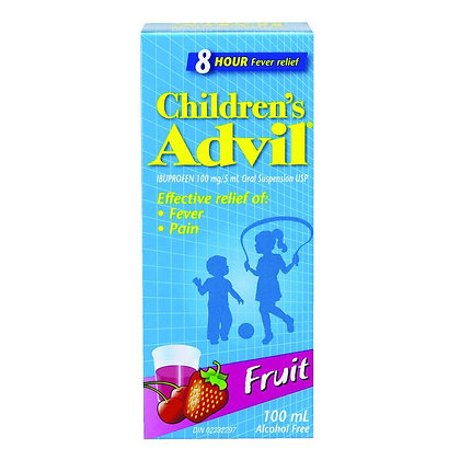 Children's Advil Ibuprofen Oral Suspension USP 100mg/5mL Fruit 100mL