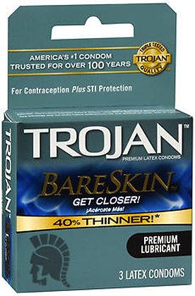 Trojan Bareskin Lubricated Latex Condoms 3c