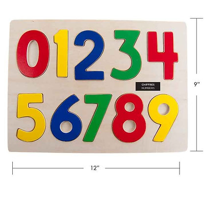 IPLAY - WOODEN PUZZLE, NUMBERS