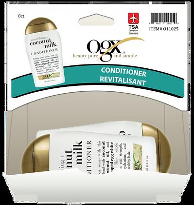 OGX Nourishing Coconut Milk Conditioner 89mL, 8ct Gravity Pack