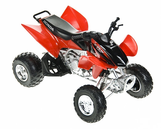 NEWRAY 1:12 DIE CAST HONDA TRX 450R 2 ASSORTED COLORS RED AN