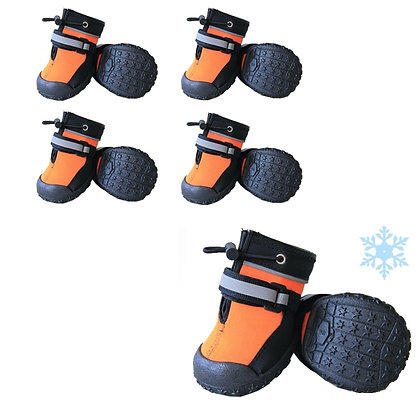 DOG BOOTS, POLYESTER, ORANGE, SMALL
